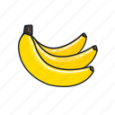 bananas, food, fruit, healthy, juice, organic, smoothie icon