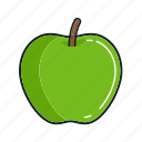 apple, food, fruit, green, healthy, juice, organic icon