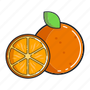 food, fruit, healthy, juice, orange, organic, smoothie icon