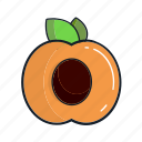 food, fruit, healthy, juice, organic, peach, smoothie icon