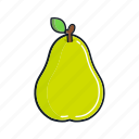 food, fruit, healthy, juice, organic, pear, smoothie icon