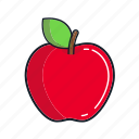 apple, food, fruit, healthy, juice, organic, red icon