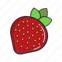 food, fruit, healthy, juice, organic, smoothie, strawberry icon