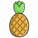 food, fruit, healthy, juice, organic, pineapple, smoothie icon