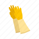 cleaning gloves, garment, glove, latex glove, medical glove, mitts, rubber glove icon