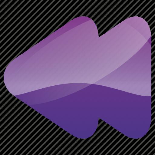 arrow, arrows, back, media, multimedia, music, player, previous, rewind icon