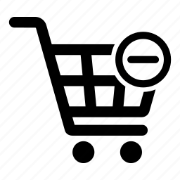 cart, minus, remove, sale, shopping, store icon