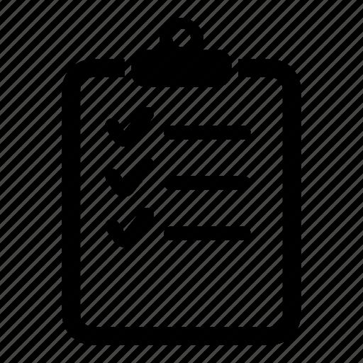 checklist, clipboard, delivery, list, report, task icon