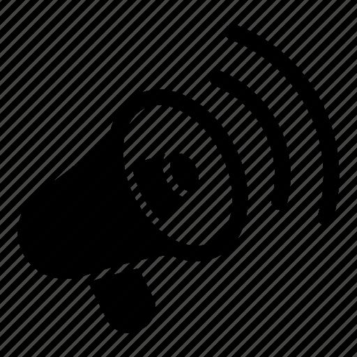 advertising, bullhorn, megaphone, social, sound, speaker, volume icon