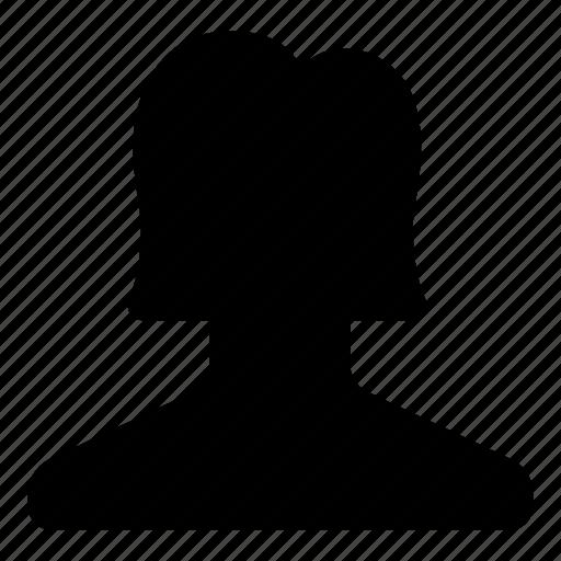 account, avatar, girl, profile, user, woman icon