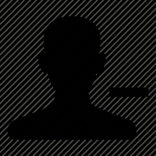 account, avatar, minus, profile, remove, user icon