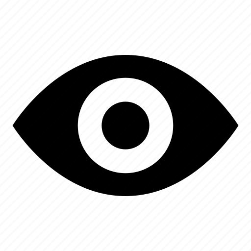 eye, find, look, see, view, visible icon