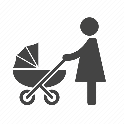 baby, carriage, mom, mother, newborn, pram, stroller icon
