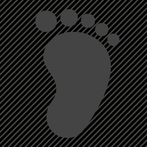 baby, child, foot, footprint, kid, leg, trace icon