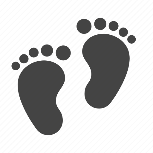 Baby, foot, footprint, leg, newborn, trace icon - Download on Iconfinder