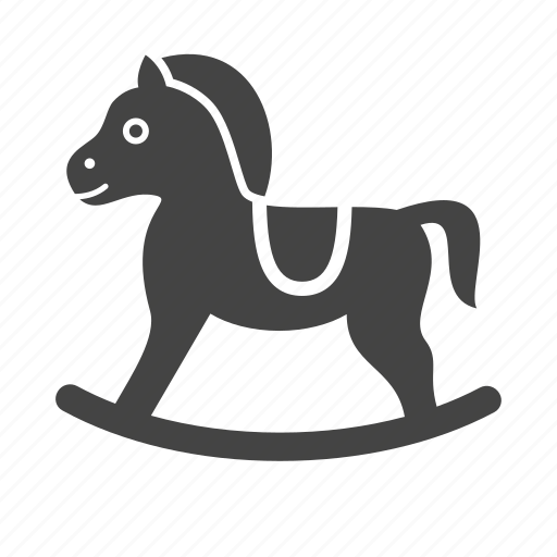 Baby, child, horse, kid, rocking, toy, wood icon - Download on Iconfinder