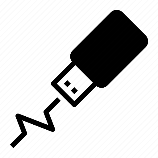 computer, hardware, memory, storage, usb icon