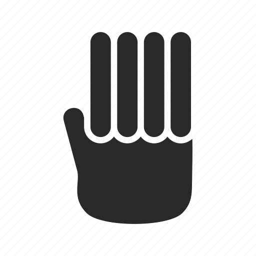 fingers, four, four-fingers, gestures, interaction, swipe, touch icon