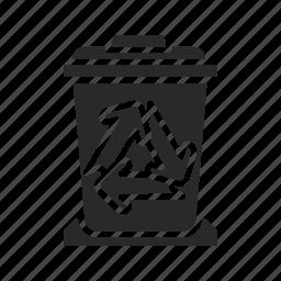 bin, delete, full, full-recycle-bin, recycle, remove, trash icon