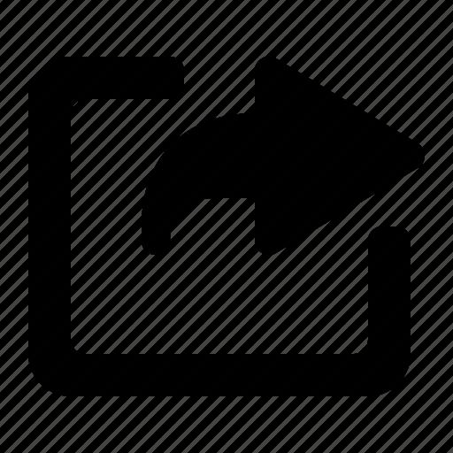 arrow, link, navigation, open, window icon