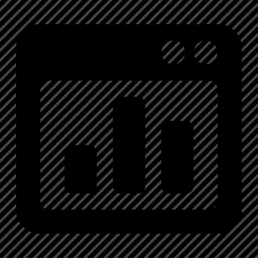 analysis, chart, stats, view, window icon
