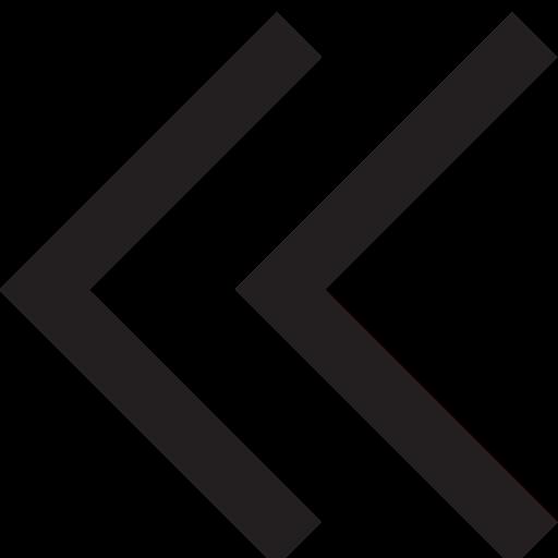 arrow, double, left icon
