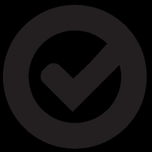 checkmark, circle icon