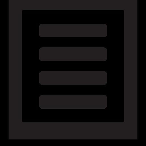 list, square icon