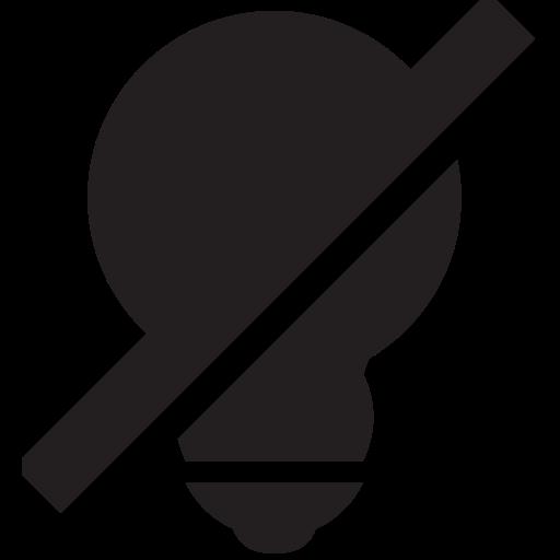 lightbulb, off icon