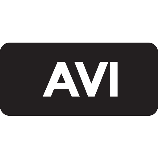 avi, tag icon