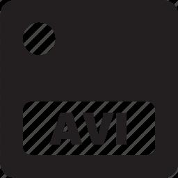 avi, doc, document, extension, file, format icon