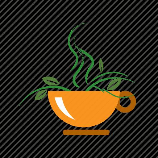 green, healthy, organic, tea icon