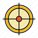 aim, business, crosshair, goal, startup, target