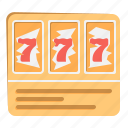 casino, gmabling, lottery, luck, lucky, seven icon