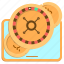 casino, gambling, roulette, tablet icon