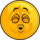 cartoon, coin, emoji, gold, metal, precious icon