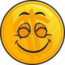 gold, metal, precious, coin, cartoon, emoji icon