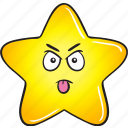 smiley, star, cartoon, gold, emoji