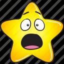 cartoon, emoji, gold, smiley, star