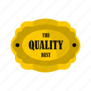 badge, banner, best, certificate, circle, gold, quality icon