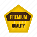 badge, banner, certificate, gold, premium, quality, star icon