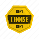 badge, banner, best, certificate, choise, guarantee, heptagon icon