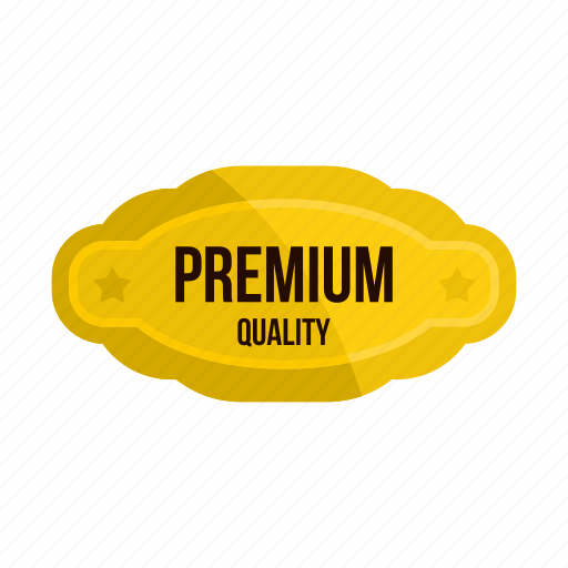 Badge, banner, certificate, gold, premium, quality, star icon - Download on Iconfinder