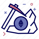 crypto, currency, dig, ethereum, ethereumcoin, mining, money icon