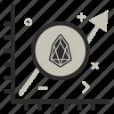 crypto, currency, eos, eoscoin, graph, money icon