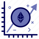 crypto, currency, ethereum, ethereumcoin, graph, money icon