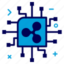 crypto, currency, ic, money, network, processor, ripple, ripplecoin icon