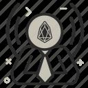 crypto, currency, eos, eoscoin, manager, money icon