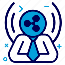 crypto, currency, manager, money, ripple, ripplecoin icon