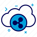 cloud, crypto, currency, money, online, ripple, ripplecoin icon